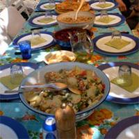la Salamandre - Baillestavy Frankrijk :Koken in de Catalaanse keuken sfeer: gedekte tafel